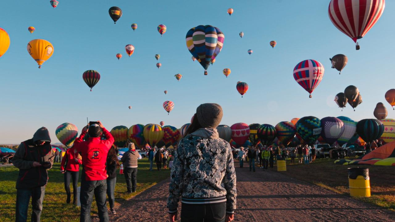 The Albuquerque International Balloon Fiesta in New Mexico