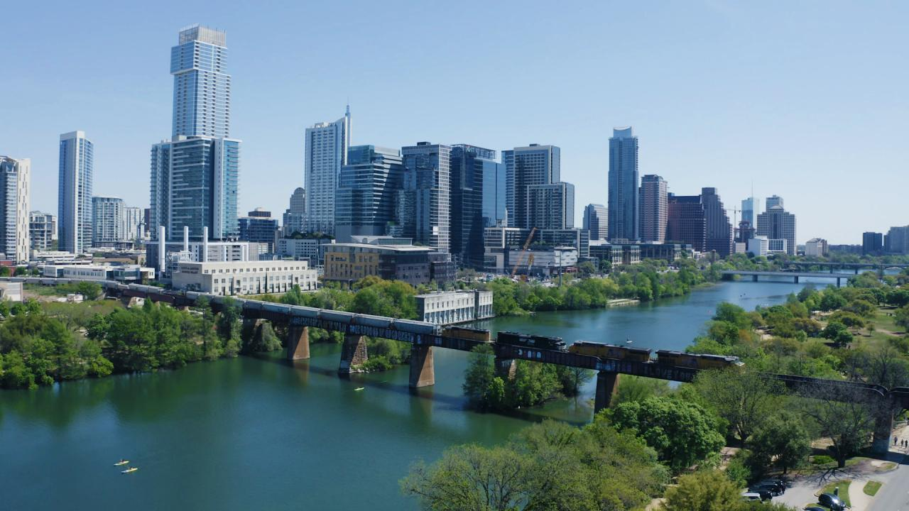 View of the Austin, Texas, skyline