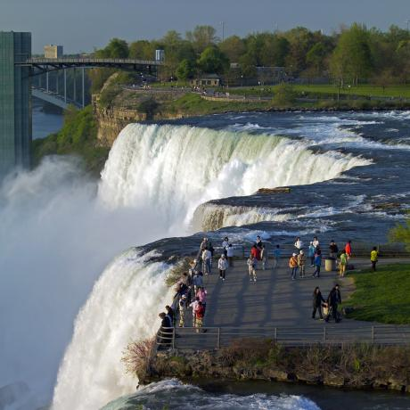 Seeing the power of cascading water at Niagara Falls State Park