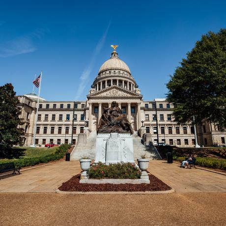 Mississippi state capitol building in Jackson, Mississippi