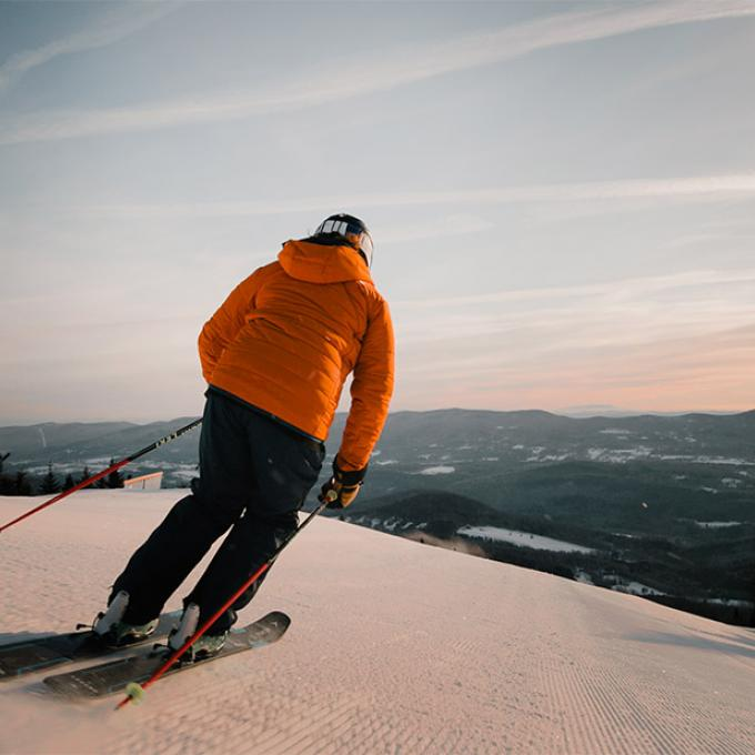 Downhill skiing in Sugarbush, Vermont