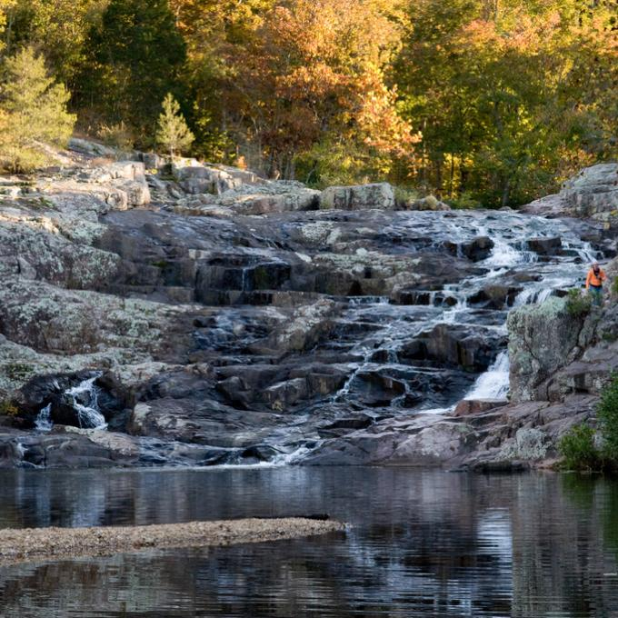 Rocky Falls in Stegall Mountain Natural Area, Missouri