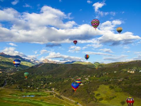 High-flying examples in the Snowmass Balloon Festival
