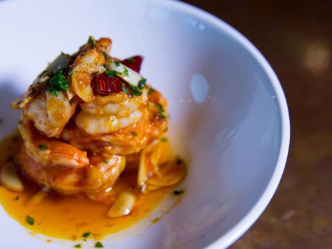 Shrimp dish at El Jaleo in Arlington's Crystal City