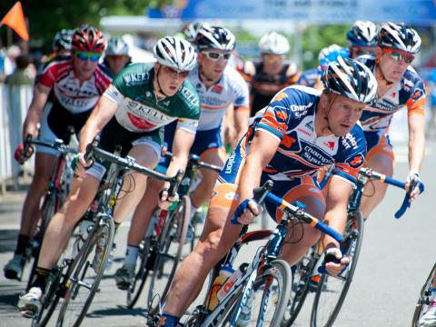 Competitors riding in the Air Force Association Cycling Classic