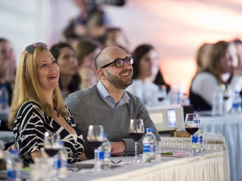 Wine tasting and seminar at the Kohler Food & Wine Experience