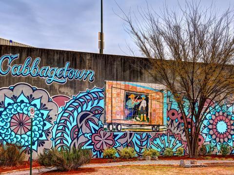 A mural in the Cabbagetown neighborhood of Atlanta, Georgia