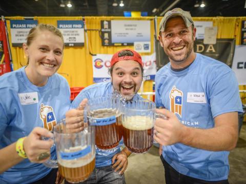Drinking craft beer during Denver Beer Week in Colorado