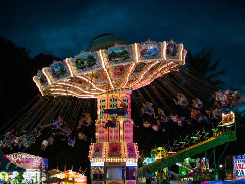 A classic ride at the Tennessee Valley Fair in Knoxville, Tennessee