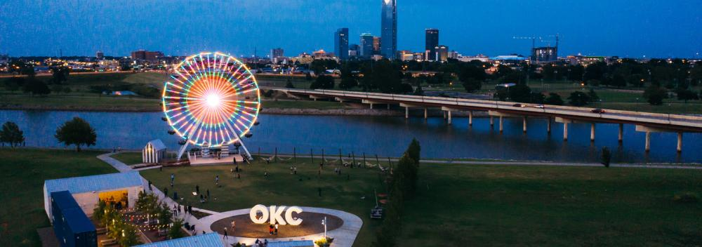 Wheeler Ferris Wheel in downtown Oklahoma City, Oklahoma