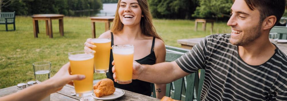 Local beer and food with incredible views in Maine