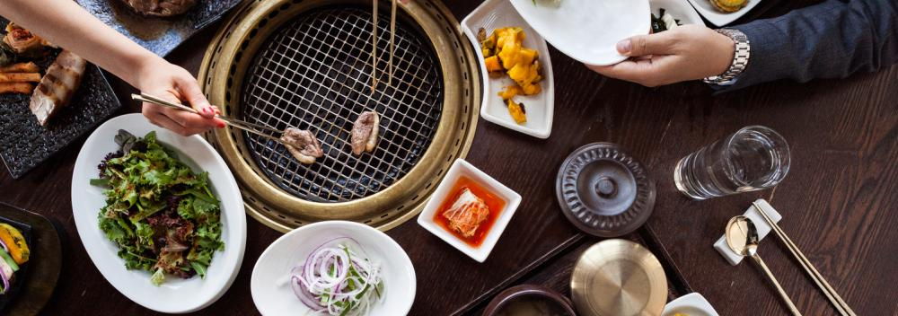 Dining at GAONNURI, an upscale Korean eatery in Manhattan